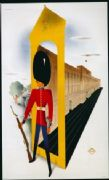 Vintage London underground poster - Royal guard